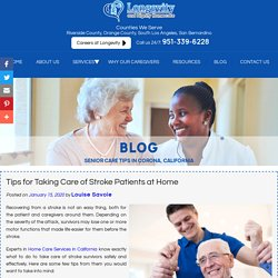 Tips for Taking Care of Stroke Patients at Home