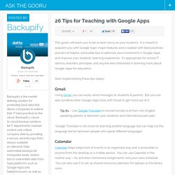 26 Tips for Teaching with Google Apps