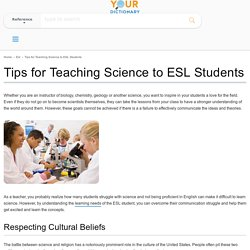 Tips for Teaching Science to ESL Students