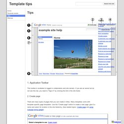 Tips - Template tips
