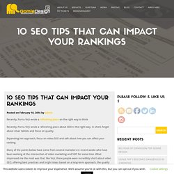 10 SEO Tips That Can Impact Your Rankings
