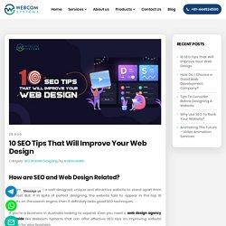 10 SEO Tips That Will Improve Your Web Design