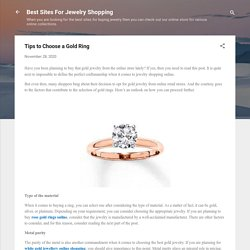Tips to Choose a Gold Ring