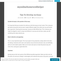 Tips To Develop An Essay