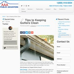 Tips to Keeping Gutters Clean
