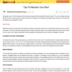 Tips To Maintain Your Roof