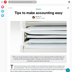 Tips to make accounting easy