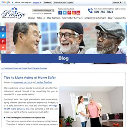 Tips to Make Aging at Home Safer