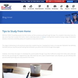 Tips to Study From Home