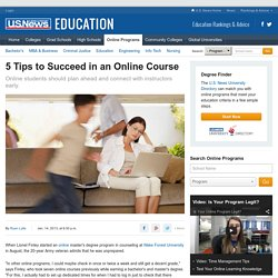 5 Tips to Succeed in an Online Course