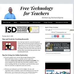 Tips and Tools for Teaching Remotely