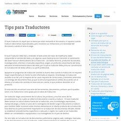 Tips para Traductores