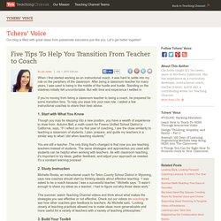 5 Tips To Transition From Teacher To Coach