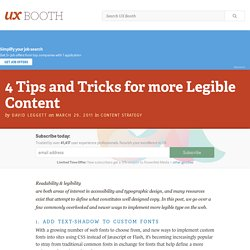 4 Tips and Tricks for more Legible Content