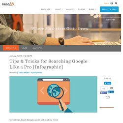 Tips & Tricks for Searching Google Like a Pro (Infographic, 2015)