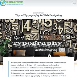 Tips of Typography in Web Designing