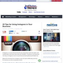 25 Tips for Using Instagram for Business