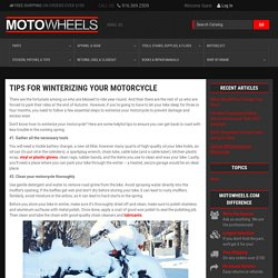 Tips for Winterizing your Motorcycle