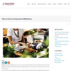 Tips to write an impressive DBQ Essay