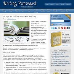 36 Tips for Writing Just About Anything