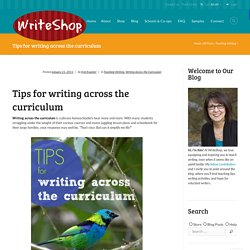 Tips for Writing across the Curriculum
