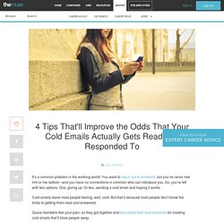 4 Tips for Writing Cold Emails That Get Read