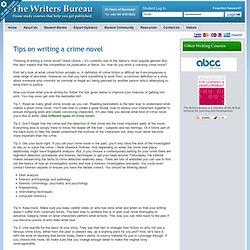 Crime Novel Writing