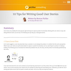 10 Tips for Writing Good User Stories