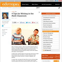 4 Tips for Writing in the Math Classroom