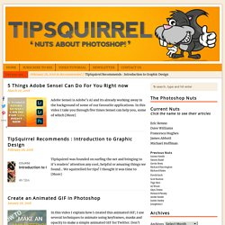 TipSquirrel - Nuts About Photoshop | TipSquirrel | Nuts About Photoshop