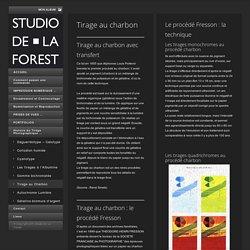 Tirage au Charbon - Studio De La ForestStudio De La Forest