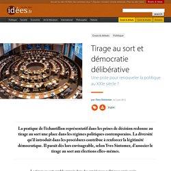 Tirage au sort et démocratie délibérative