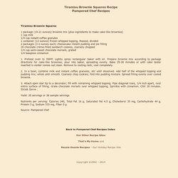 tiramisu brownie squares recipe