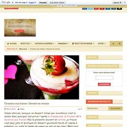 Tiramisu aux fraises / Dessert en verrine