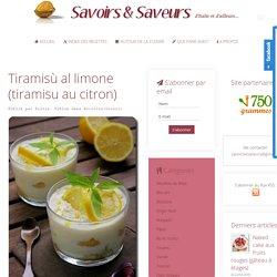 Tiramisù al limone (tiramisu au citron)