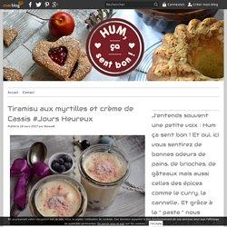 Tiramisu aux myrtilles et crème de Cassis #Jours Heureux