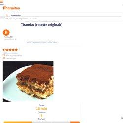 Tiramisu (recette originale) : Recette de Tiramisu (recette originale)
