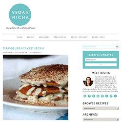 Tiramisu Pancakes! Vegan - Vegan Richa