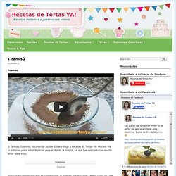Tiramisú - Recetas de Tortas YA!