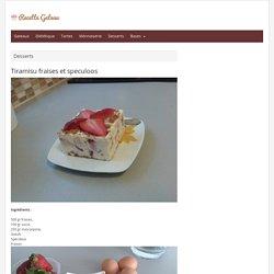 Tiramisu fraises et speculoos