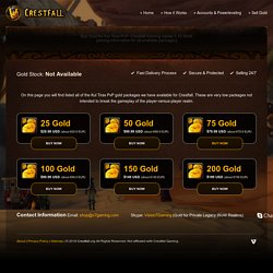 Buy Gold for Kul Tiras PvP: Crestfall Gaming Vanilla 1.12 WoW