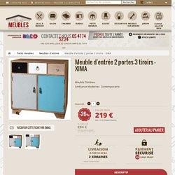 Meuble d'entrée 2 portes 3 tiroirs XIMA - Univers Petits Meubles : Tousmesmeubles