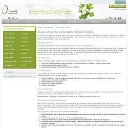 Tisane, mode d'emploi - herboristerie ORMENIS