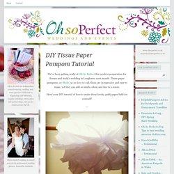 DIY Tissue Paper Pompom Tutorial