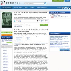 Titan: The Life of John D. Rockefeller, Sr Summary