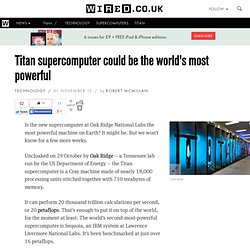 Titan supercomputer could be the world's most powerful