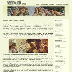 Titanes y Titánides. Mitología griega