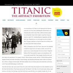 10 People Who Did Not Board the Titanic - Titanic Expo