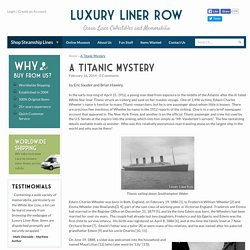 A Titanic Mystery - Luxury Liner Row
