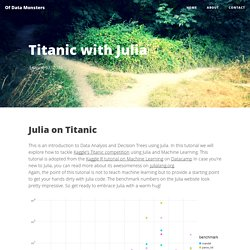 Titanic with Julia - Of Data Monsters